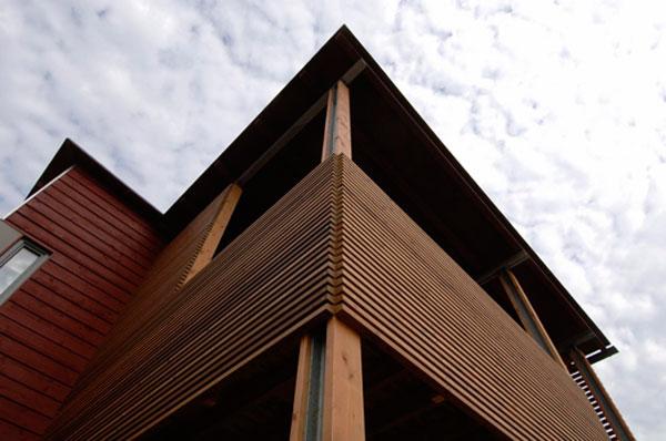 термодоска фасадная из сосны